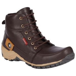 Boots (Men's) - Bachini Half Ankle Boot For Men-(Code-1509-Brown)
