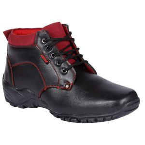 Bachini Half Ankle Boot For Men-(code-1527-black)