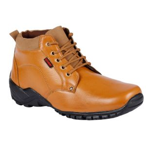Bachini Half Ankle Boot For Men-(code-1527-tan)