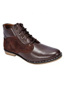 Bachini Half Ankle Boot For Men-(code-1529-brown)