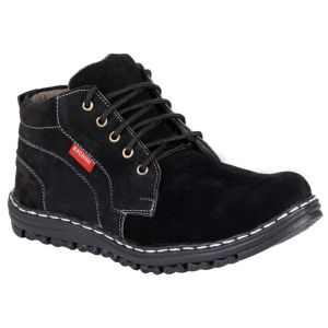 Bachini Half Ankle Boot For Men-(code-1530-black)