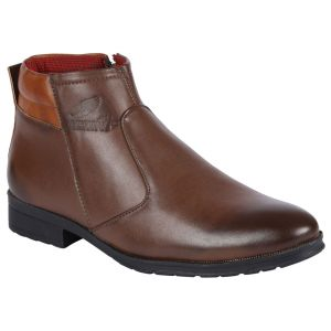 Boots (Men's) - Bachini Half Ankle Boot For Men-(Code-1531-Brown)