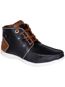 Bachini Black Half Ankle Boot For Men (product Code - 1540-black)