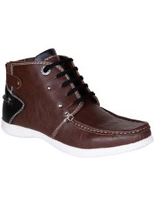Bachini Brown Half Ankle Boot For Mens (product Code - 1540-brown)