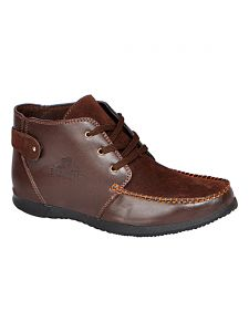 Bachini Brown Half Ankle Boot For Men (product Code - 1542-brown)