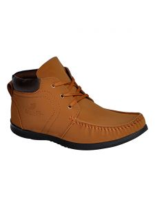 Bachini Half Ankle Boot For Men-(code-1543-tan)