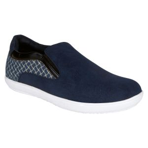 Bachini Navy Blue Casual Shoe Slipon For Men (product Code - 1548-navy Blue)