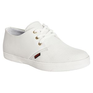 Bachini White Casual Shoes For Men (product Code - 1551-white)