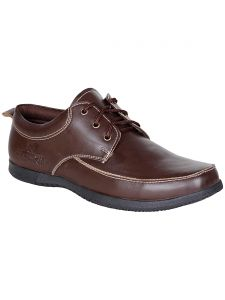 Bachini Brown Lace Up Formal Shoes For Mens (product Code - 1558-brown)