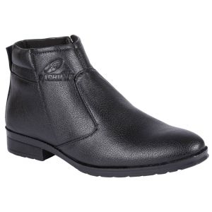 Boots (Men's) - Bachini Half Ankle Boot For Men-(Code-1584-Black)