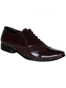 Bachini Brown Lace Up Formal Shoes For Mens (product Code - 1587-brown)