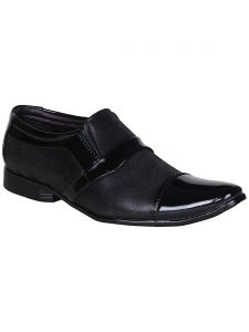 Bachini Black Slip On Casual Shoes For Men (product Code - 1588-black)
