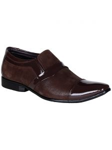 Bachini Brown Slip On Casual Shoes For Men (product Code - 1588-brown)