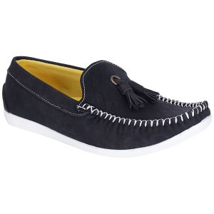 Bachini Black Loafers For Men (product Code - 1590-black)
