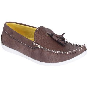 Bachini Brown Loafers For Men (product Code - 1590-brown)