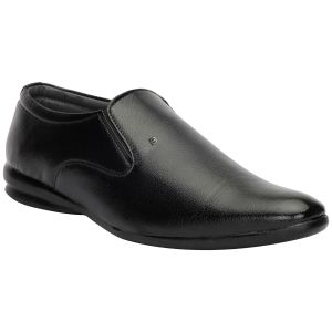 Formal Shoes (Men's) - BACHINI Black Formal Shoes for Men (Product Code - 1592-Black)