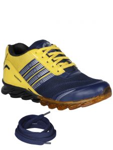 Bachini Yellow Mens Sports Shoes-(product Code-1601-yellow)