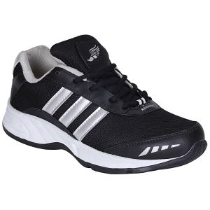 Bachini Black Sport Shoes For Men (product Code - 1608-black)