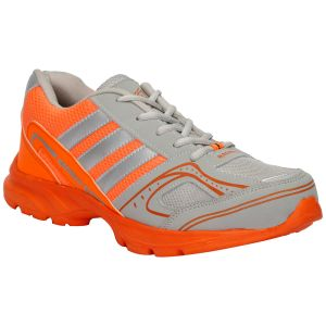 Bachini Orange Grey Sport Shoes For Men (product Code - 1609-orange Grey)