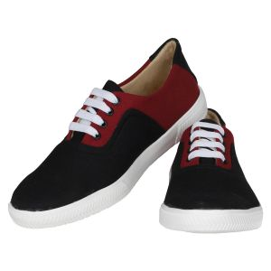 Black Maroon Casual Shoes For Men (code - 1619-black Maroon)