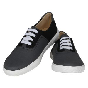 Grey Black Casual Shoes For Men (code - 1623-grey Black)