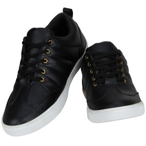 Sneakers for men - Black Casual Sneakers for Men (Code - 1643-Black)