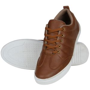 Sneakers for men - Tan Casual Sneakers for Men (Code - 1643-Tan)
