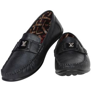 Formal Shoes (Men's) - Black Formal Slip on for Men (Code - 1647-Black)