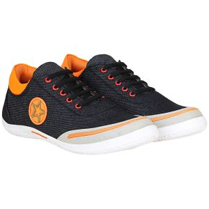 Bachini Star Denim Casual Shoe For Men (code- 1666 Black)