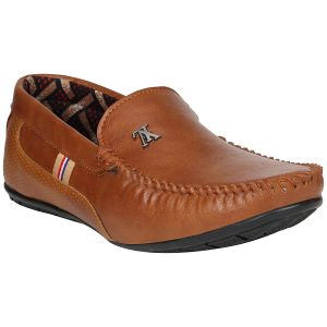 Bachini Elegant Men Saata 7a Loafers(code-1649-tan)