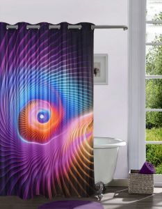 Shower curtains - Lushomes Digitally Printed 3D Design Shower Curtain with 10 Eyelets