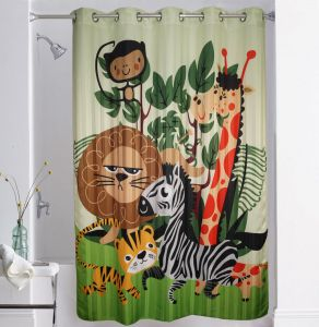 Shower curtains - Lushomes Digitally Printed Kids Design Shower Curtain with 10 Eyelets