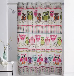 Shower curtains - Lushomes Digitally Printed Owl Shower Curtain with 10 Eyelets