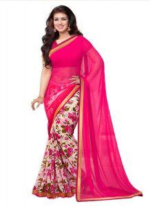 Wama Chiffon Sarees - Wama Fashion aayesha Chiffon printed designer Multi flower  saree