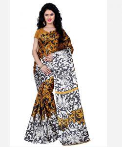 Silk Sarees - Wama Fashion  Printed Multicolour Raw Silk Sarees (Code - TZ_1009_C)