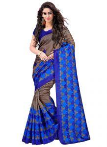 Wama Designer Sarees - wama fashion Blue colour bhagalpuri printed designer saree TZ_kamal