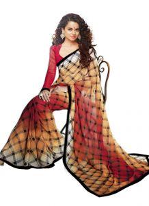 Wama Chiffon Sarees - Wama Fashion  Chiffon printed designer saree with attaractive lace borde