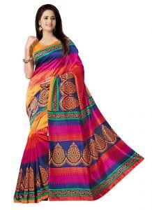 Sarees - wama fashion  cotton sari with blouse (TZ_Coktail)