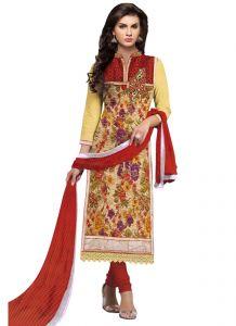 Wama Women's Clothing - wama fashion net fabric salwar suit with duppata