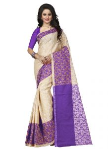 Silk Sarees - Wama tussar silk purpal saree with blouse(TZ_Padmavati_Purple)