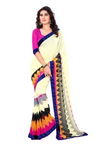 Wama Chiffon Sarees - Wama Fashion  Chiffon zigzag printed designer saree