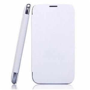 White Flip Cover For Samsung Galaxy Grand Duos I9082 Mobile Phone