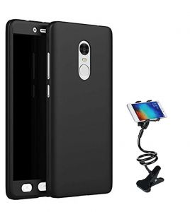 Tbz 360 Degree Protection Front & Back Case Cover For Lenovo K8 Note With Flexible Tablet/phone Holder Lazy Stand - Black