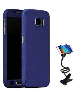 Tbz 360 Degree Protection Front & Back Case Cover For Lenovo K8 Plus With Flexible Tablet/phone Holder Lazy Stand -blue