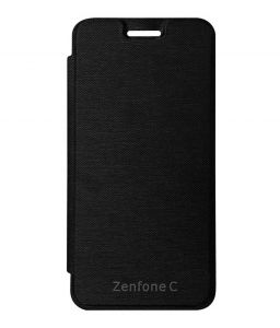 Tbz Flip Cover Case For Asus Zenfone C -black