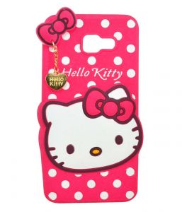Tbz Cute Hello Kitty Soft Rubber Silicone Back Case Cover For Samsung Galaxy On Max