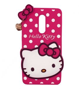 Tbz Cute Hello Kitty Soft Rubber Silicone Back Case Cover For Lenovo K8 Plus -pink