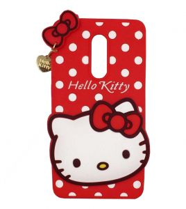 Tbz Cute Hello Kitty Soft Rubber Silicone Back Case Cover For Lenovo K8 Plus -red
