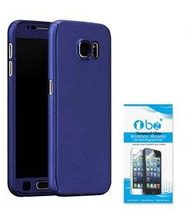 Tbz 360 Protection Front & Back Case Cover For Lenovo K8 Note With Tempered Screen Guard -blue