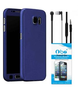 Tbz 360 Protection Front & Back Case Cover For Lenovo K8 Note With Earphone And Tempered Screen Guard -blue